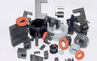 Electronic assembly: ferrite cores, magnets