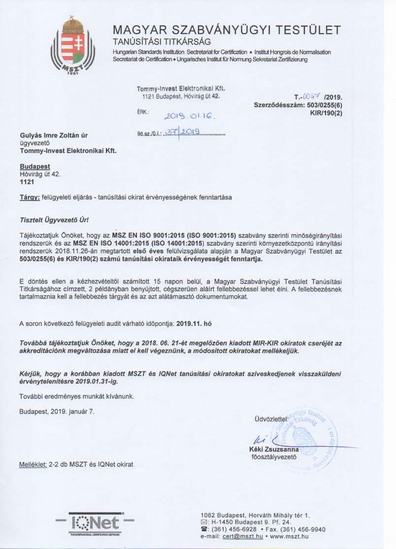 PCB company - Certificate 5