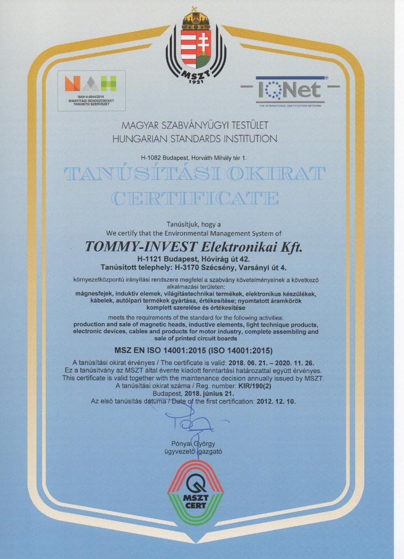 PCB electronics - Certificate 2