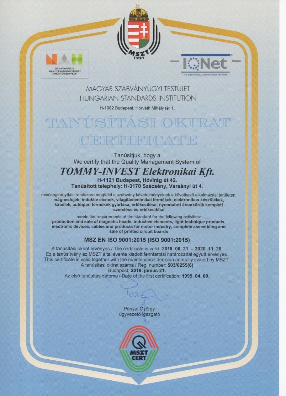 PCB company - Certificate 4